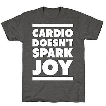 Cardio vonk niet vreugde houtskool t-shirt