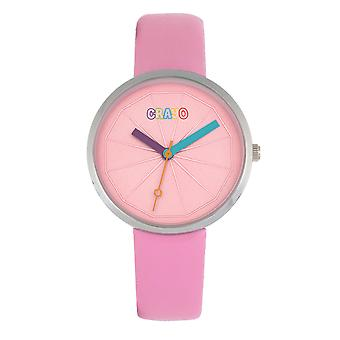 Crayo Metric Unisex Watch - Pink