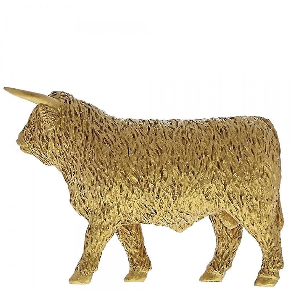Border Fine Arts Highland Bull Gold Cow Figurine