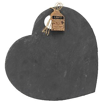 Loft Slate hjerte Cheese Board