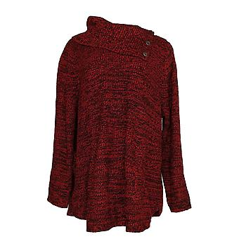 Style et Cie Femmes -apos;s Plus Sweater V-cou King Pocket Pull-Over Burgundy Red
