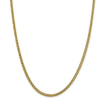 14k 4.30mm Semi solid 3 wire Wheat Chain Necklace Jewelry Gifts for Women - Length: 18 to 24