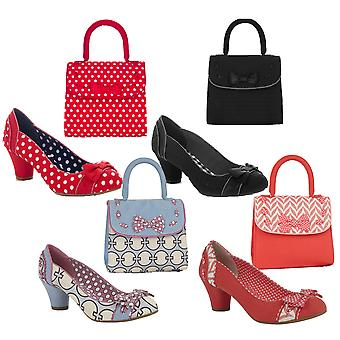 Ruby Shoo Women's Hayley Court Shoe Pumps e Borsa Santiago corrispondente