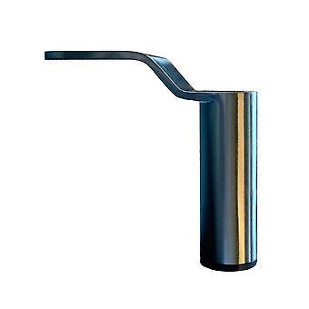 Edelstahl Look rund Design Möbel Bein 14 cm