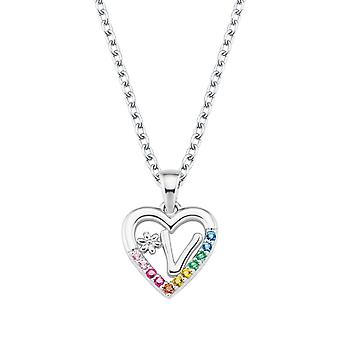 Princess Lillifee Kids Necklace Silver Letter Necklace V Girls 2027895