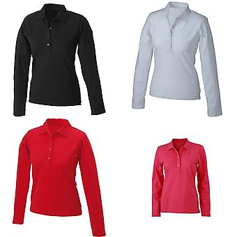 James and Nicholson Womens/Ladies Elastic Long-Sleeved Polo