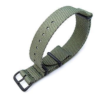 Strapcode n.a.t.o حزام ووتش miltat 20mm g10 حزام المراقبة العسكرية الناتو، وافل النايلون armband، pvd - الأخضر العسكري