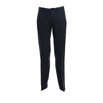 Corneliani 854ex50120184001 Men's Blue Linen Pants