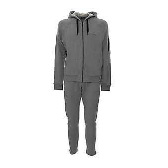 Z Zegna Vt478zz806k97 Mænd's Grey Cotton Jumpsuit