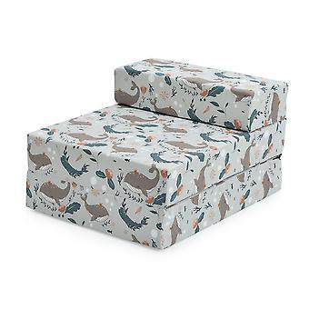 Valmis vakaa sänky lapset lapset taittaa sleepover z bed sohva | Taapero yhden taitto tuoli | Suuri Leikkihuone Makuuhuone Olohuone | Kevyt & Mukava (Merenalainen)