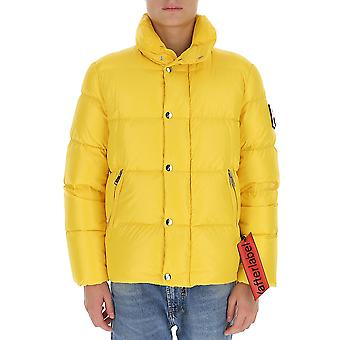 After Label Al013150 Men's Yellow Polyester Down Jacket