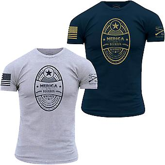 Grunt Style Merica Bourbon Label T-Shirt