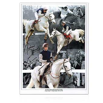 Signed Richard Dunwoody Horse Racing Photo: Desert Orchid