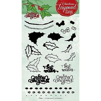 Studio Light Layered Clearstempel Christmas A5 nr 10 STAMPLS10