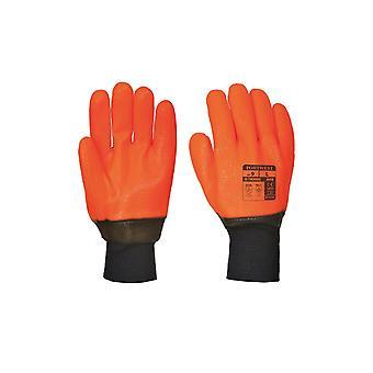 Portwest weatherproof hi - vis glove a450