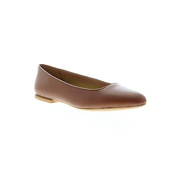 Camper Isadora  Womens Brown Leather Slip On Flats Shoes