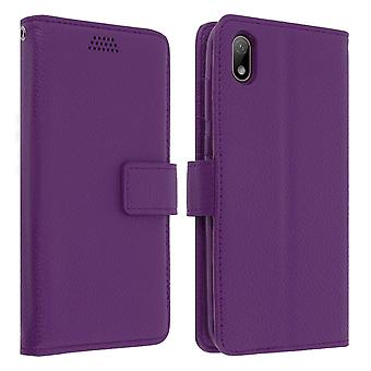 Flip wallet case, slim cover Huawei Y5 2019 / Honor 8S, silicone shell - Purple