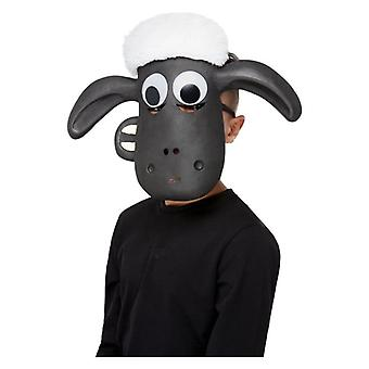 Childrens Shaun the Sheep Face Mask Fancy Dress Accessory