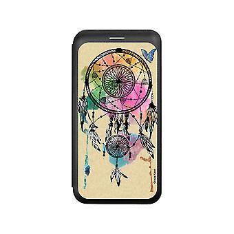 حالة لiPhone Xs نمط المصيد الحلم والفراشة