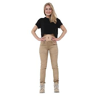 Ripped Distressed Slim Skinny Jeans with Diamante Detail