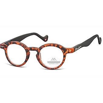 Reading glasses round turtle orange starch +2.00 (box69)