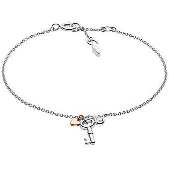 Fossil bracelet JFS00465998 - STERLING SILVER Silver Dor Rose Crystal Transparent 16/5 cm Women