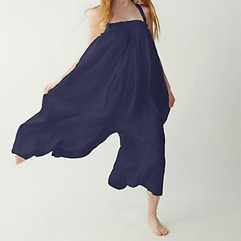 Summer Sexy Sleeveless Backles Wide Leg Jumpsuit Plus Size