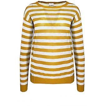 Taifun Mustard & White Striped Jumper