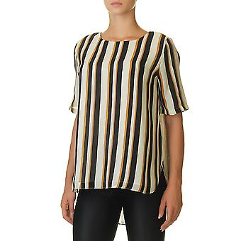 Glamorous Women's Top With Striped Print