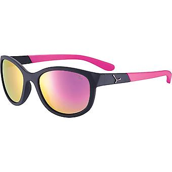 Cebe Katniss Kids Sunglasses (Matt Black Pink 1500 Grey PC Blue Light Pink Flash Mirror Cat.3)