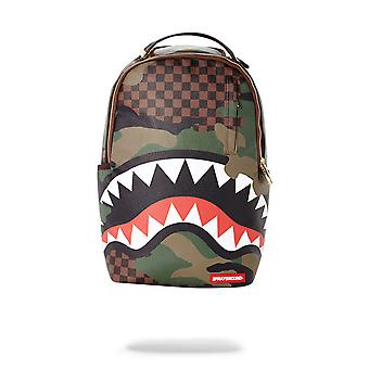 Sprayground Checkered Camo Shark Backpack