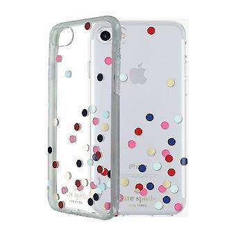kate spade new york Flexible Hardshell Case for iPhone 7 - Confetti Dot Clear/Multi/Gold Foil