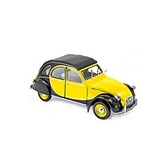 Citroen 2CV Charleston (1982) in Yellow and Black (1:18 scale by Norev 181493)