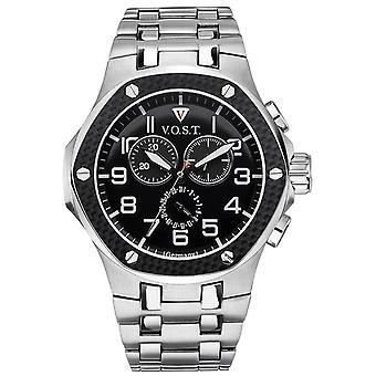 V.O.S.T. Germany V100.007 Men's Carbon Chrono watch 44mm