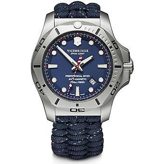 Victorinox Swiss Army I. N. O. X Professional Diver quartzo azul Mens Watch 241843