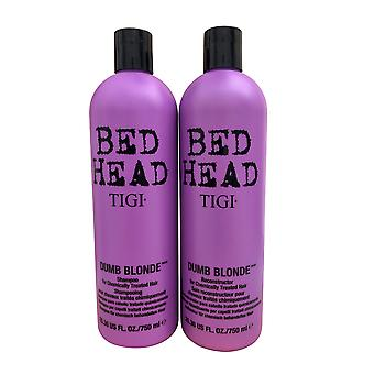 Tigi Bed Head Dumb Blonde Duo Shampoo & Rekonstruktionsor 25,36 OZ hver