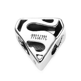 Sterling Silver Platinum Plated Mum Charm Best Gift for Women TJC