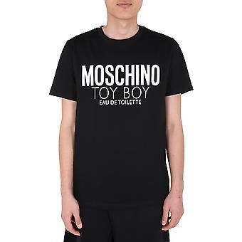 Moschino 070370381555 Männer's schwarze Baumwolle T-shirt