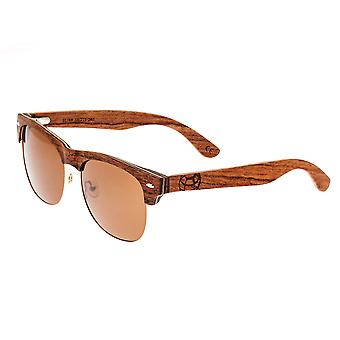 Earth Wood Moonstone Polarized Sunglasses - Red Rosewood/Brown