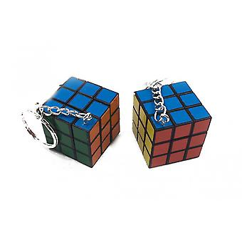 Mini Rubiks terning på nøgle kæde