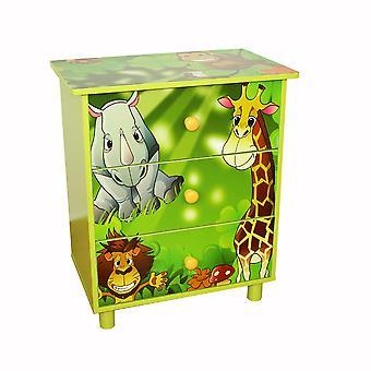 MDF dřevěná zásuvka pro děti v džungli