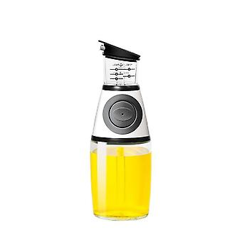 Aminno Oil Dispenser With Measurements For Cooking Oil And Vinegar Cruet Drip - Free Spout 500ml/250ml Glass Bottle