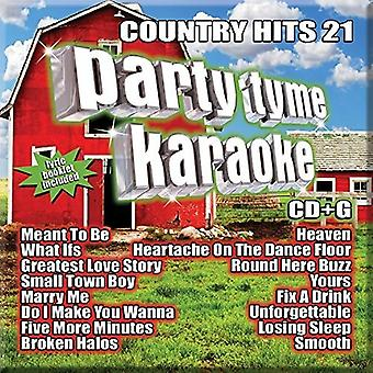 Various Artist - Party Tyme Karaoke: Country Hits 21 / Var [CD] USA import