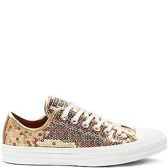 Converse Ctas Ox 562446C Gold Womens Shoes Boots