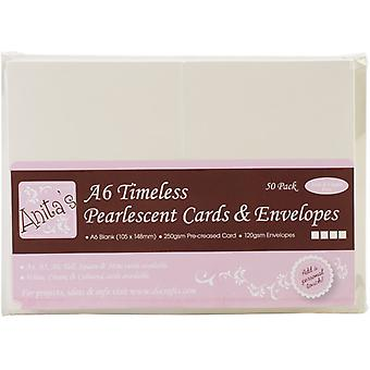 Anita's A6 Cards & Envelopes Timeless Pearlescent (50pk) (ANT 1511011)