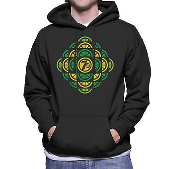 7UP Citrus Pattern Män's Hooded Sweatshirt