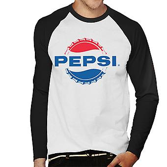 Pepsi Cola 1962 Bottlecap Logo Men's Baseball Long Sleeved T-Shirt