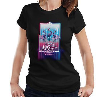 Miami Vice Neon Flamingo Women's T-Shirt
