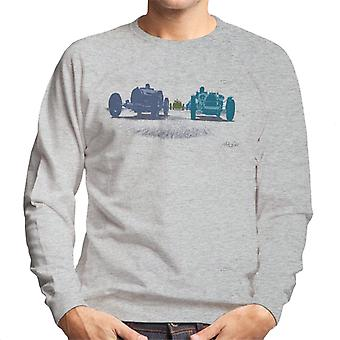 Bugatti 1920s Grand Prix Race Cars Art Men's Sweatshirt