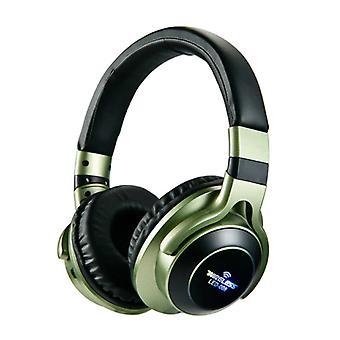 HANXI Wireless Headphones Bluetooth Wireless Headphones 3D Stereo Gaming Green